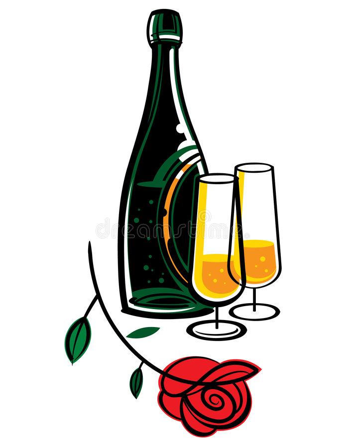 Download Champagne stock vector. Image of champagne, glass, cafe - 7542570