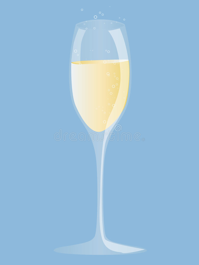Champagne stock illustration