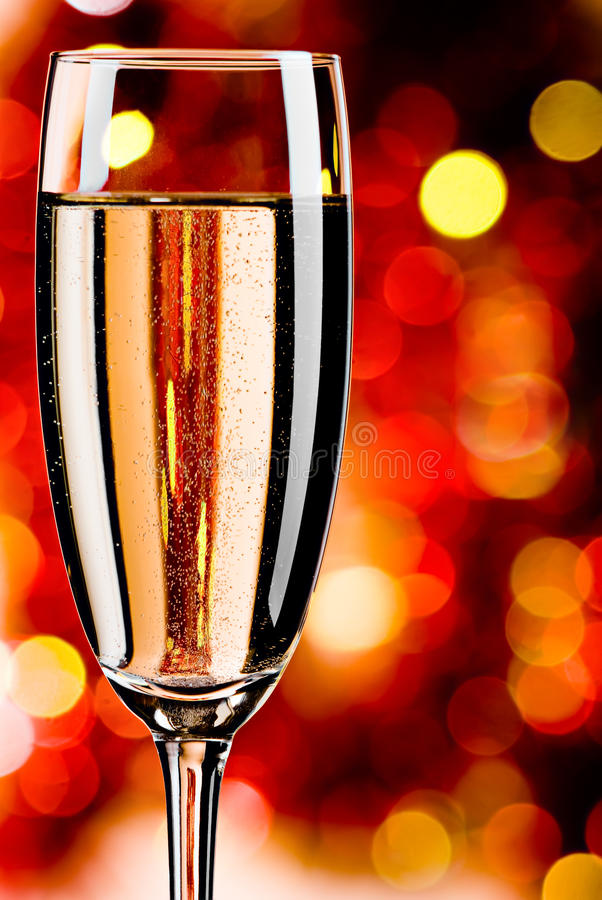 Champagne on abstract background royalty free stock image