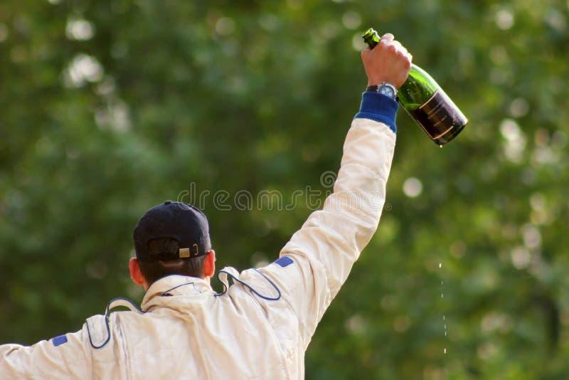 Champagne acima da cabeça fotos de stock royalty free