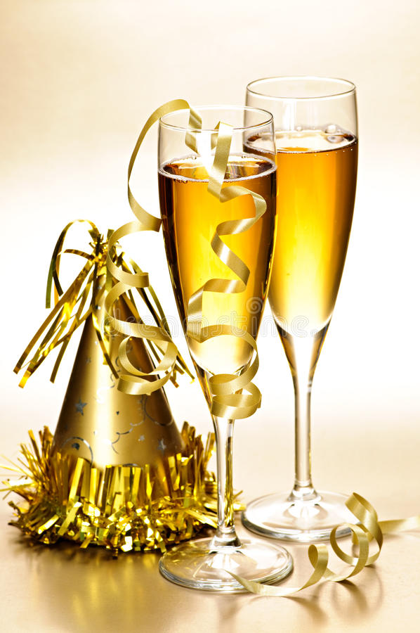 Free Champagne And New Years Party Decorations Royalty Free Stock Photo - 11566125