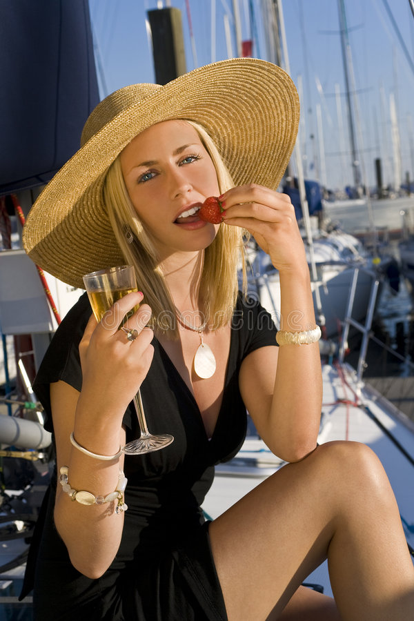 Free Champagne And Strawberries On Deck Stock Photo - 5207890