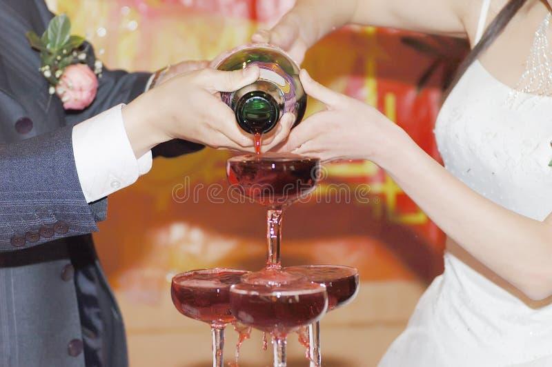 Champagne auf der Hochzeit lizenzfreie stockbilder