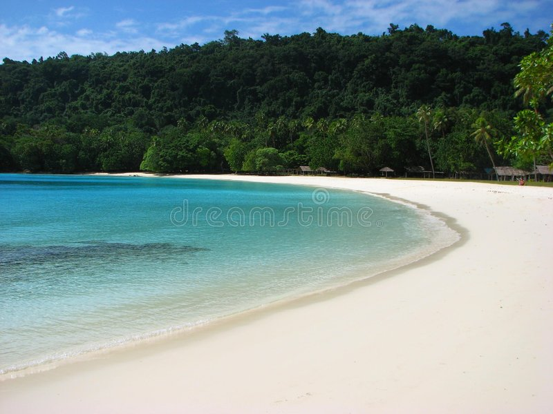 Download Champagne Beach, Vanuatu stock photo. Image of south, ocean - 5524748