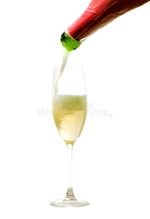 Download Champagne Being Poured Royalty Free Stock Image - Image: 2332546