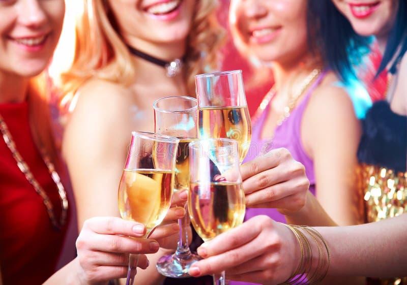 Champagne bij partij royalty-vrije stock foto's