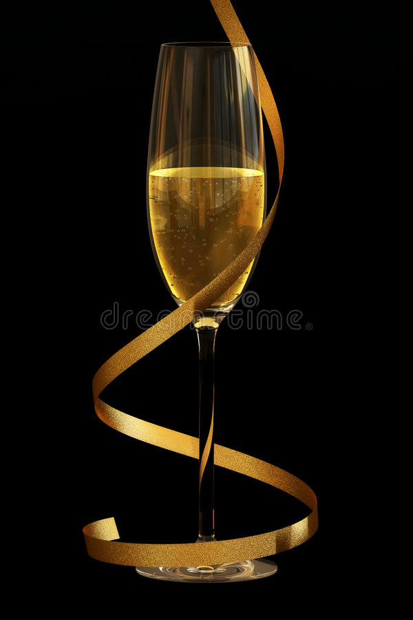 Champagne on Black royalty free stock photography