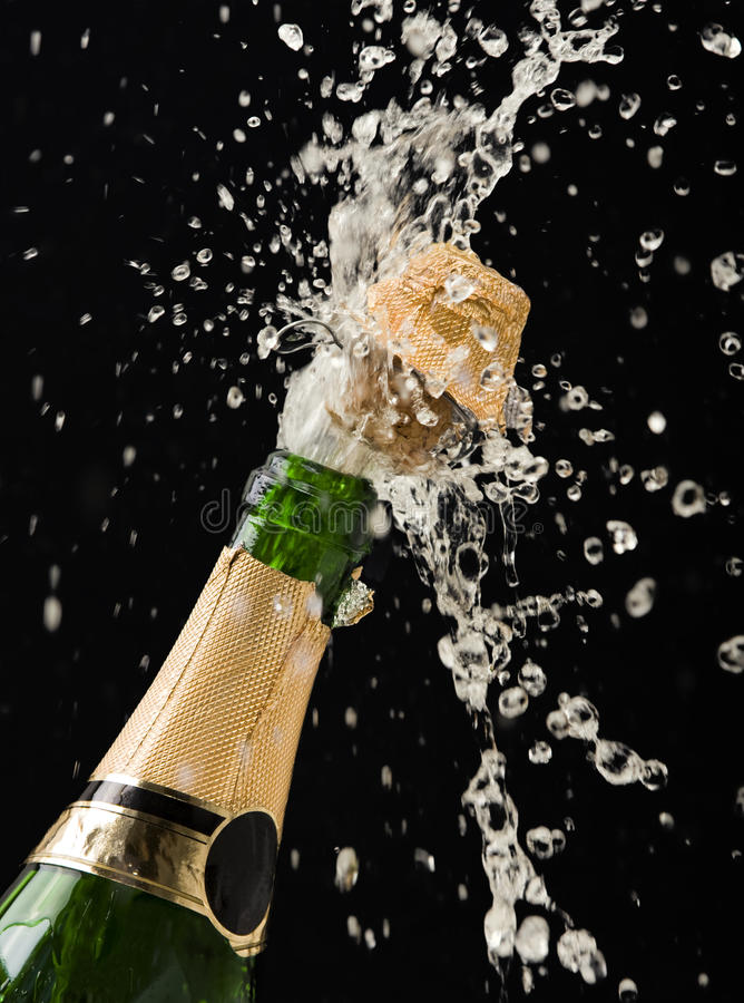 Download Champagne bottle stock image. Image of recreation, single - 11754647