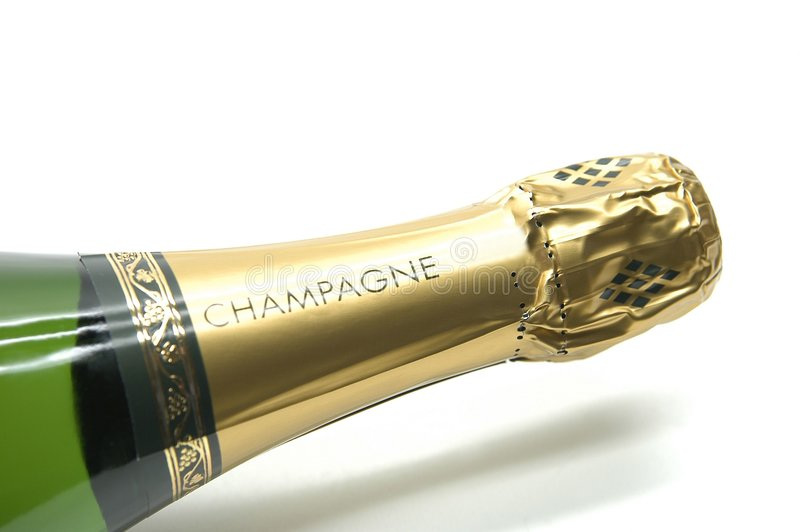 Champagne bottle stock photography