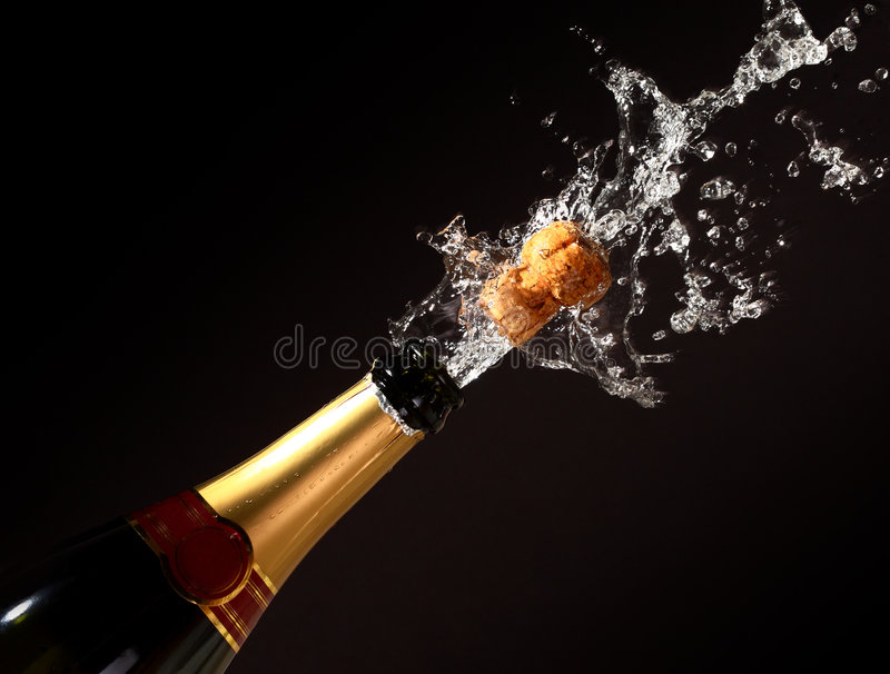 Champagne Bottle Eruption Royalty Free Stock Photos