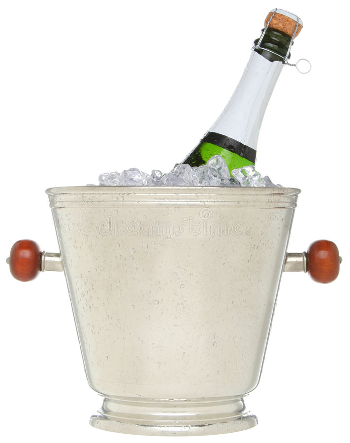 Download Champagne Bottle In An Ice Bucket Stock Photo - Image: 7363536