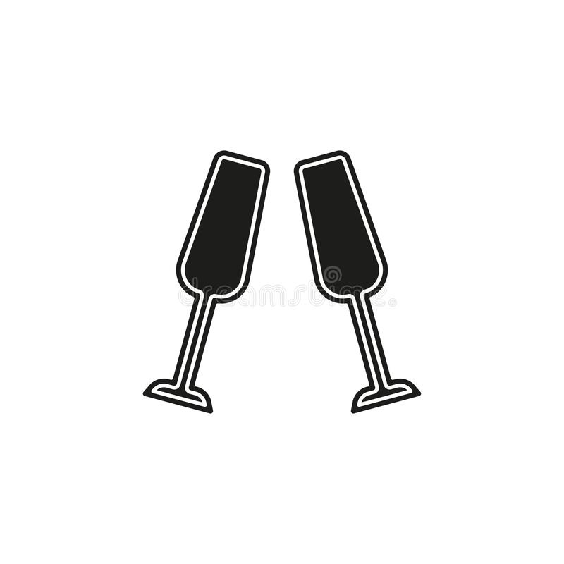 champagne bottle icon - drink alcohol symbol - holiday celebration icon vector illustration