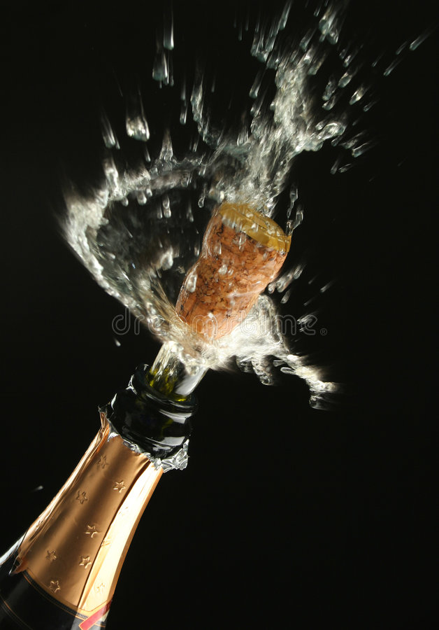 Free Champagne Bottle Ready For Celebration Royalty Free Stock Images - 1456649