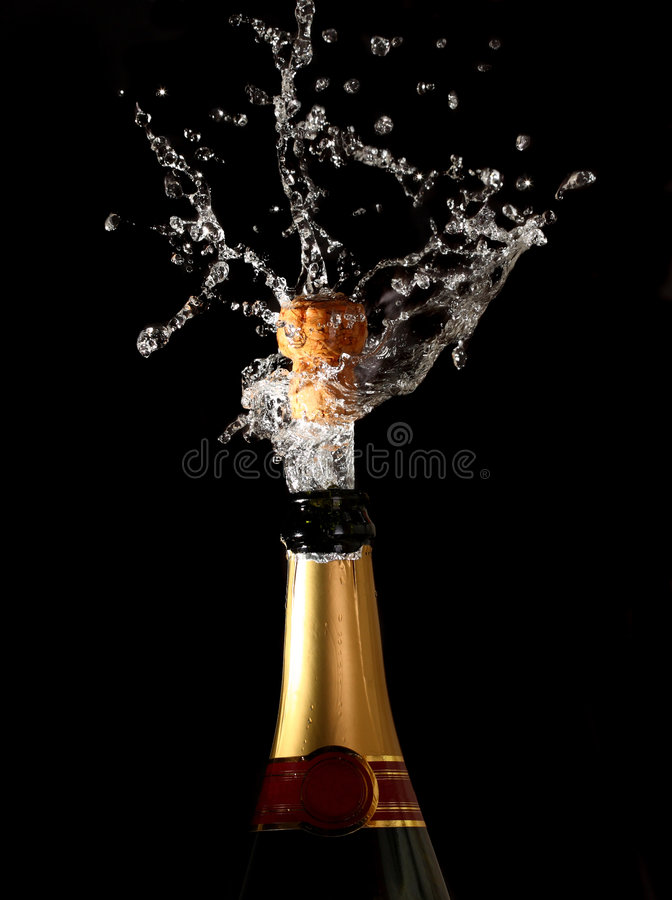 Download Champagne Bottle With Shotting Cork Royalty Free Stock Images - Image: 7544379