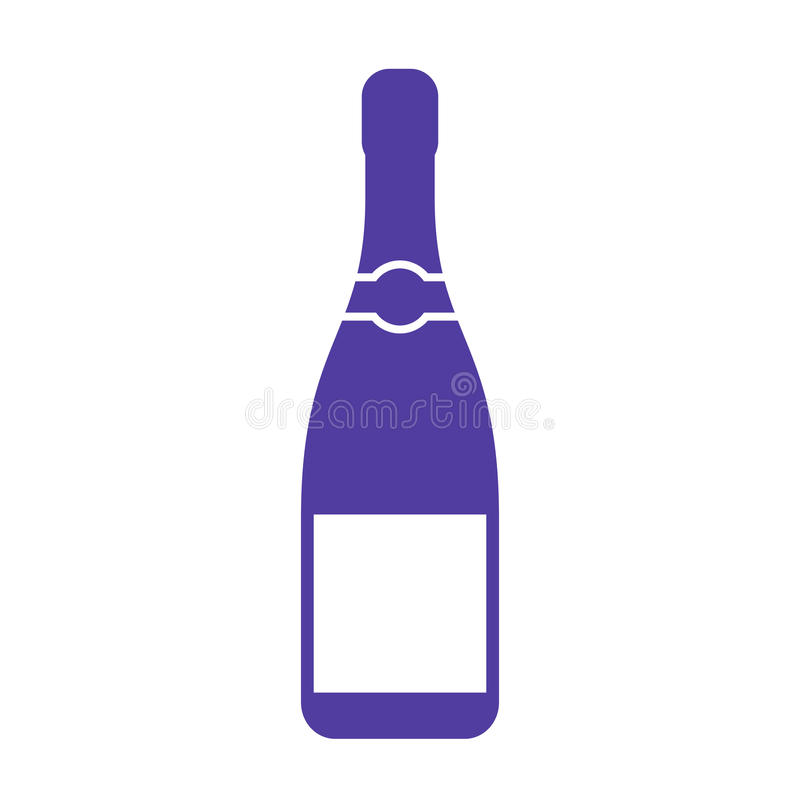 Champagne bottle vector icon vector illustration