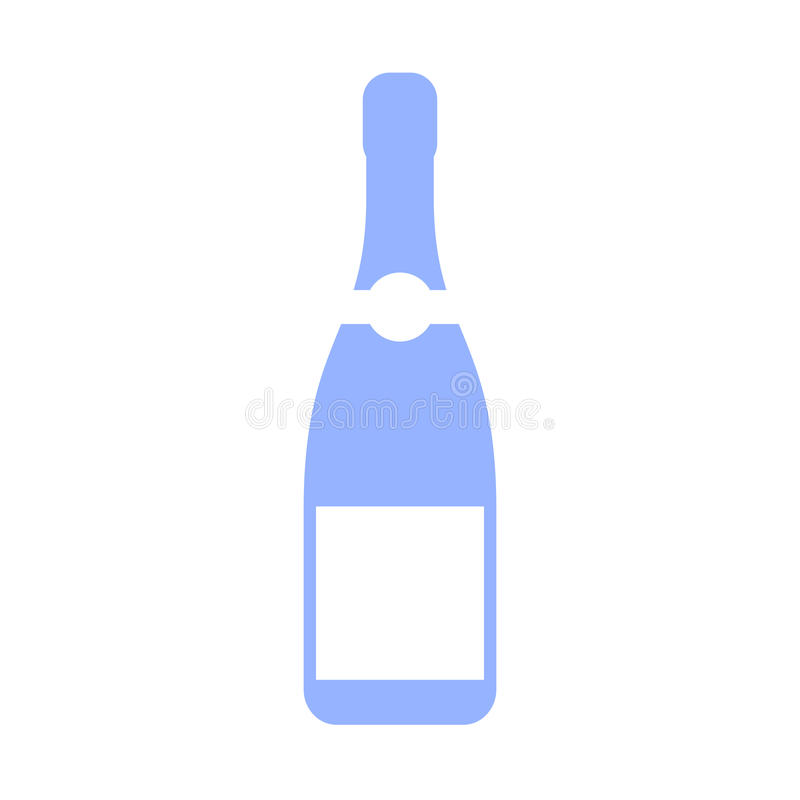 Champagne bottle vector icon stock illustration