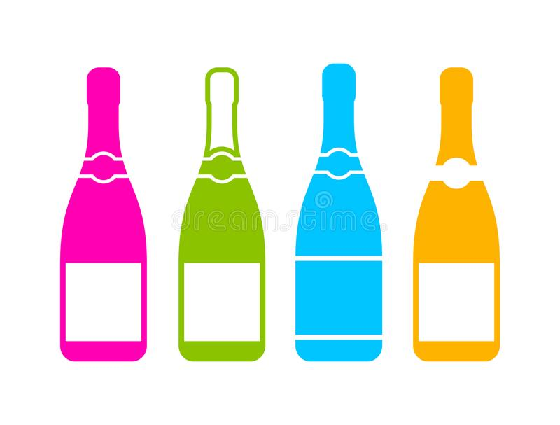 Champagne bottle icon vector illustration