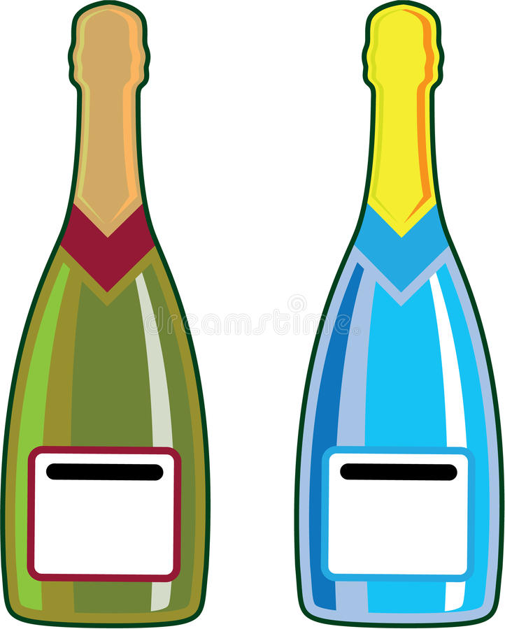 Champagne bottles vector vector illustration