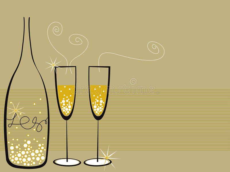 Champagne bouillonne célébration illustration de vecteur