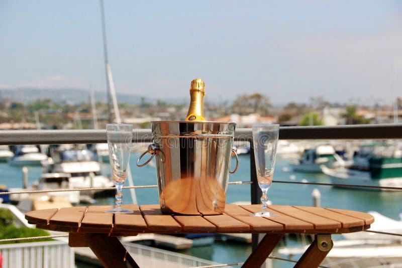 Champagne Bucket royaltyfria foton