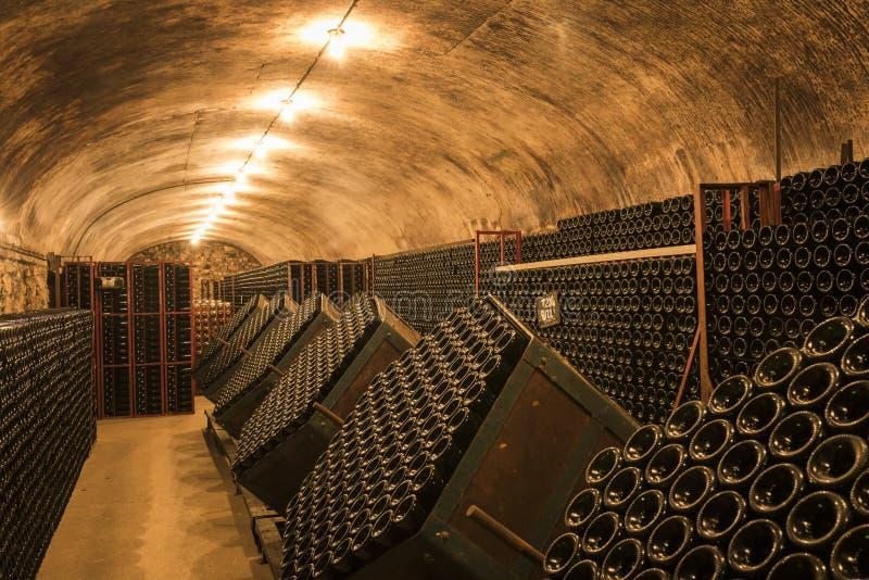 Champagne Cellar em Hautvillers França foto de stock