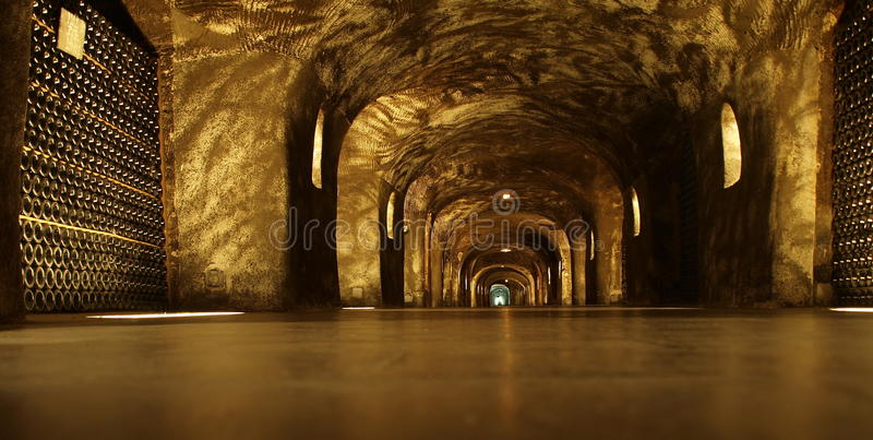 Champagne Cellar Royalty Free Stock Image