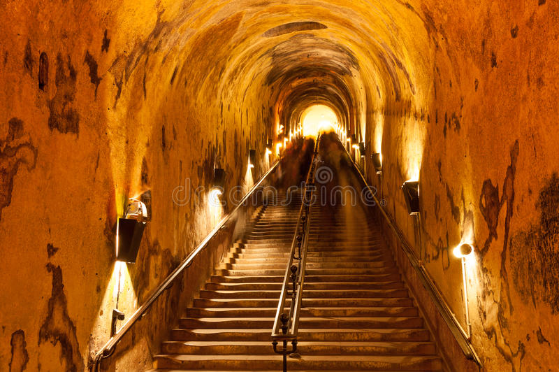 Champagne cellars stock images