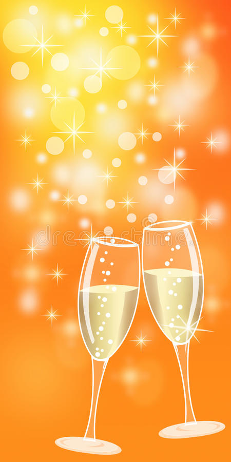 Download Champagne For Christmas Or New Year Stock Illustration - Illustration: 22119187
