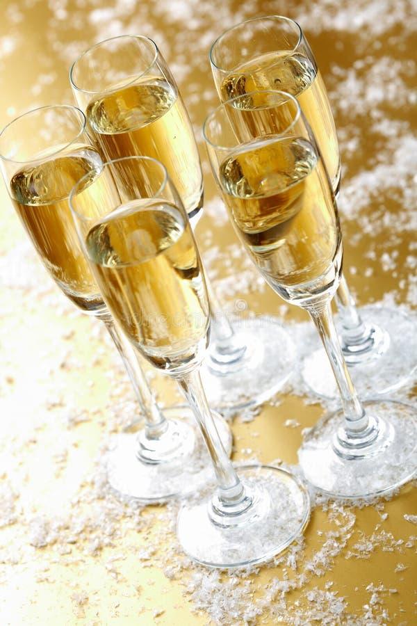 Champagne cinq photographie stock libre de droits
