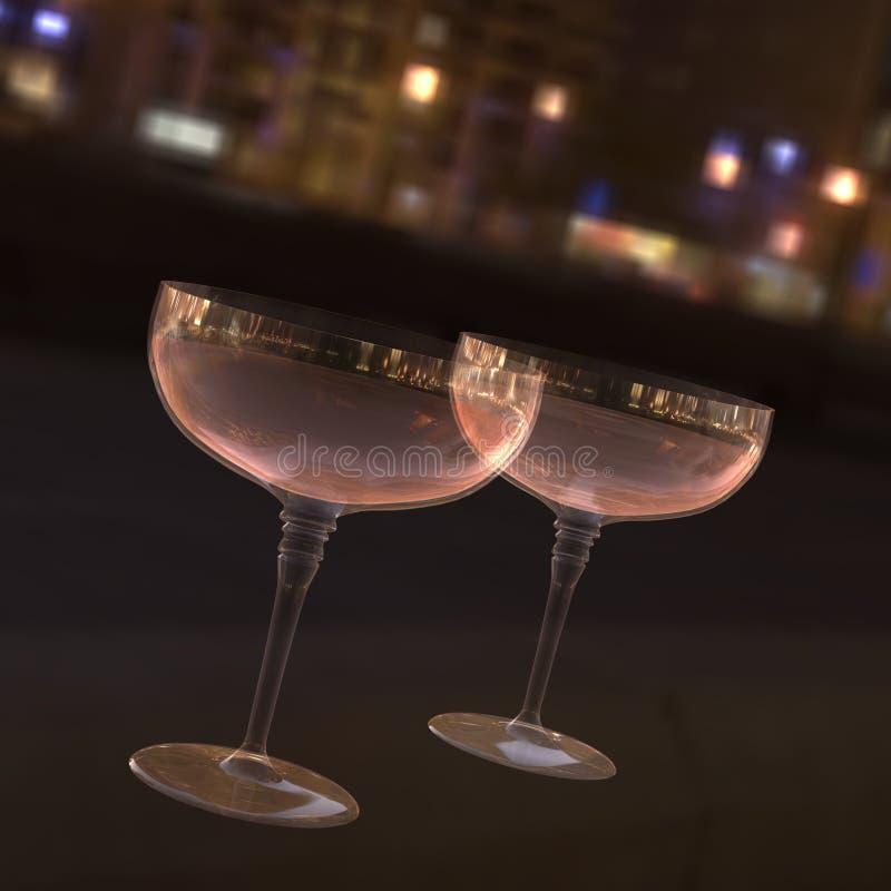 Champagne City Lights Stock Photo