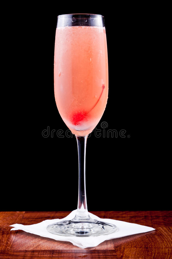Champagne-Cocktail stockfoto