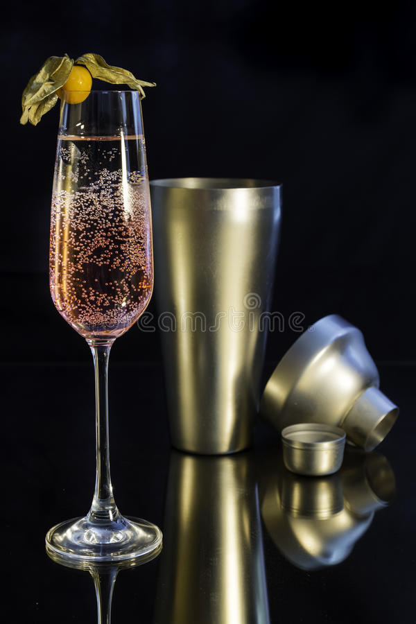 Champagne-cocktail stock afbeeldingen