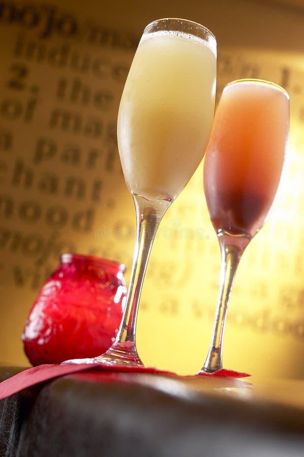 Champagne-Cocktails lizenzfreie stockbilder