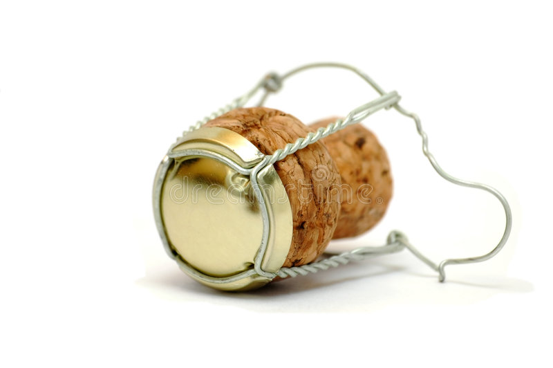 Champagne cork. Still life object of champagne cork
