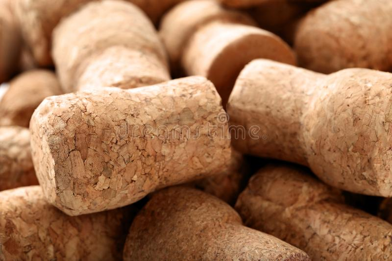 Champagne corks. Background, close up stock images