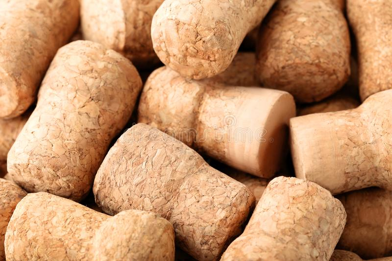 Champagne corks. Background, close up royalty free stock photo