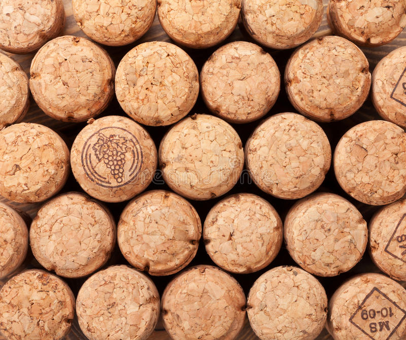 Champagne corks texture. Champagne wine corks texture background royalty free stock photography