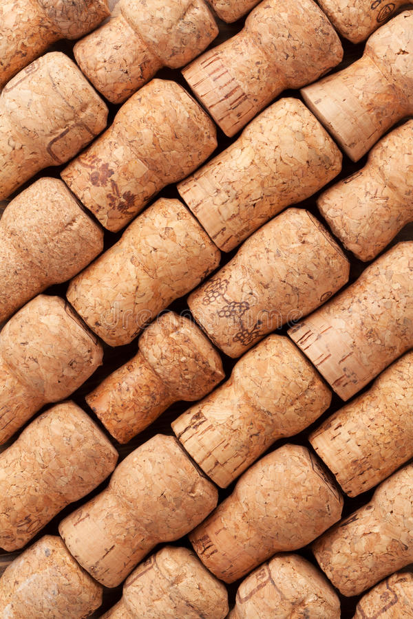 Champagne corks texture. Champagne wine corks texture background stock photo