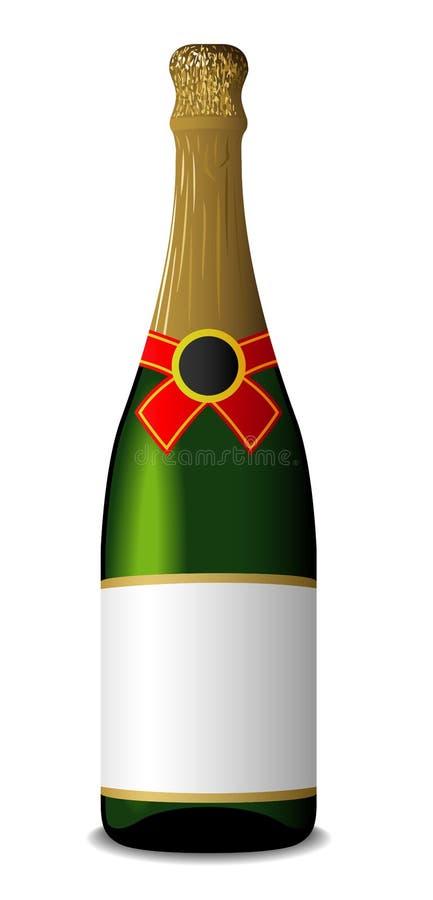 champagne de bouteille illustration de vecteur
