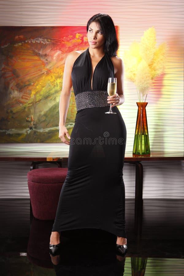 Champagne de foyer images stock