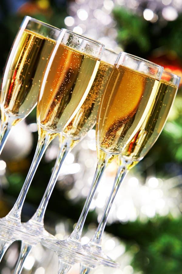 Champagne de pétillement image stock