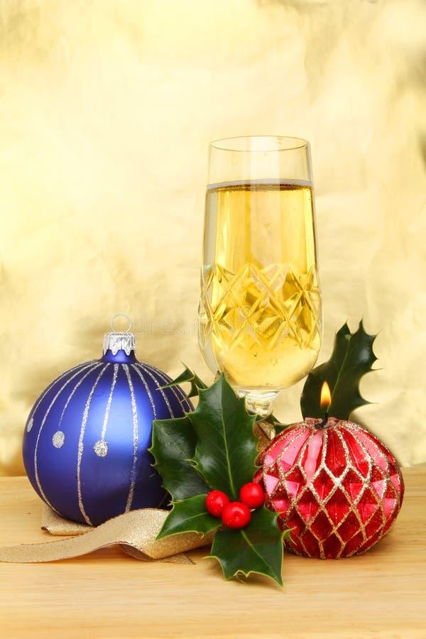 Champagne di natale immagini stock