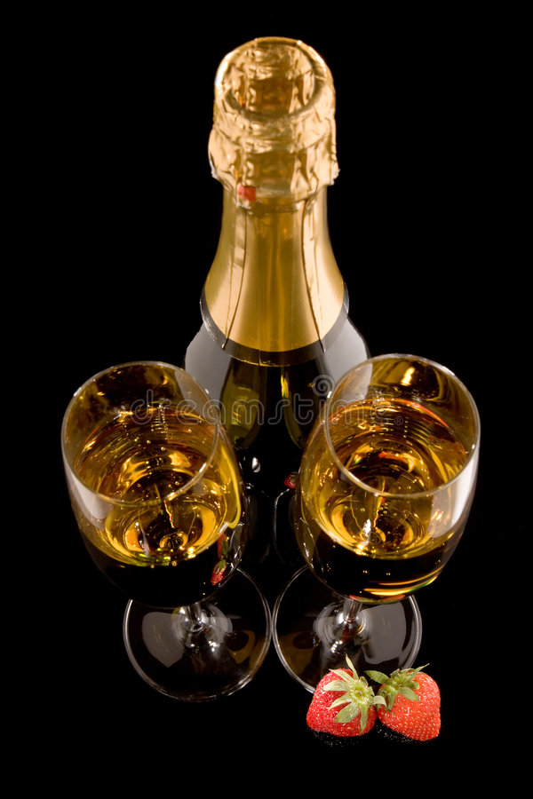 Champagne di vista superiore fotografia stock libera da diritti