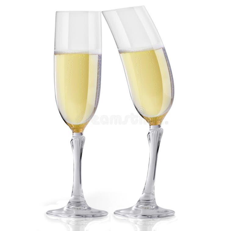 Champagne, die 2 flirtet stockfotos