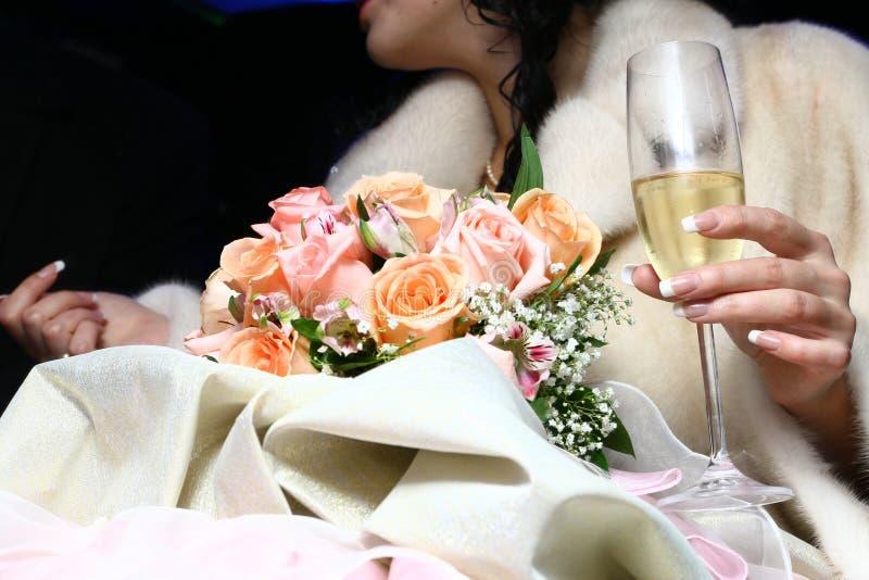 Champagne door de manier royalty-vrije stock afbeelding