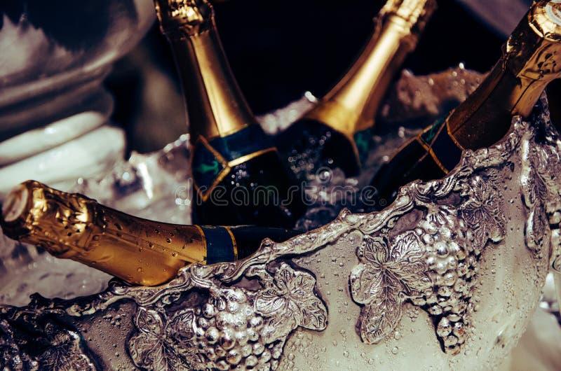 Champagne-Eimer stockbilder