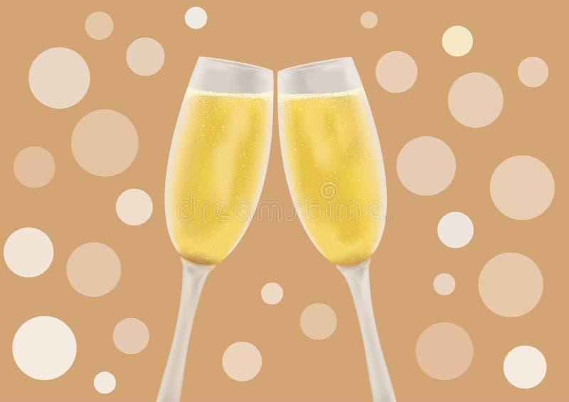 Champagne in einem Glas stockfotos