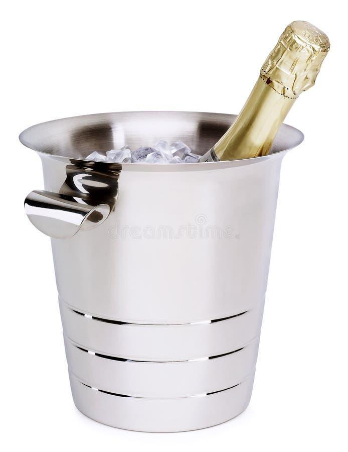 Champagne in einer Wanne stockbilder