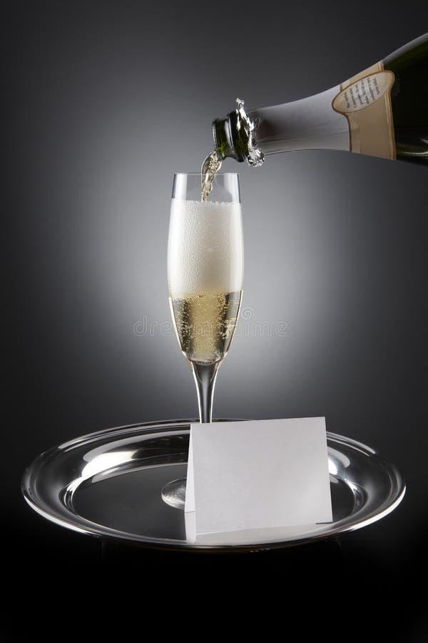 Champagne-Einladung lizenzfreies stockfoto