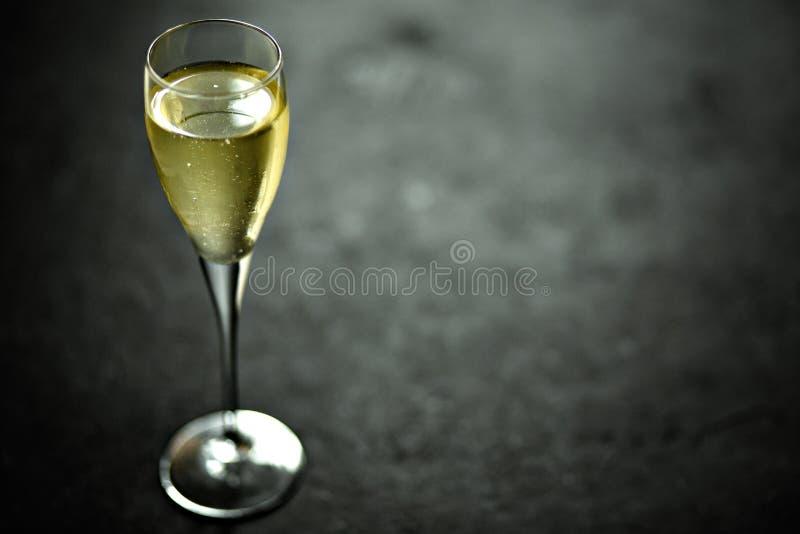 Champagne em um vidro imagem de stock royalty free